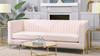"Riviera 84"" Channel Tufted Modern Tuxedo Sofa, Light Blush Pink"