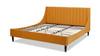 Aspen Vertical Tufted Headboard Platform Bed Set, King, Rich Yellow