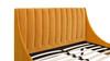 Aspen Upholstered Platform Bed, Queen, Rich Yellow