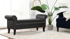 Kathy Roll Arm Entryway Accent Bench, Vintage Black Brown