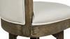 "Henry 26"" Armless Swivel Counter Height Bar Stool, Natural White Linen"