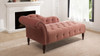 Samuel Tufted Chaise Lounge, Right Arm Facing, Ash Rose