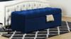 Arlo Tufted Flip Top Storage Bench, Navy Blue