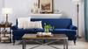 Alana Lawson Recessed Arm Sofa, Navy Blue