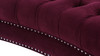 La Rosa Chesterfield Loveseat, Burgundy