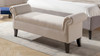 Kathy Roll Arm Entryway Accent Bench, Sky Neutral