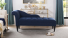 Harrison Tufted Chaise Lounge, Midnight Blue