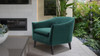 Lia Barrel Chair, Evergreen