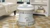 Leona Decorative Vanity Stool, Jacquard, Star White