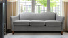 Julian Camel Back Arm Sofa, Light Grey