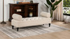 Lewis Bolstered Lounge Entryway Bench, Sky Neutral