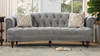 La Rosa Chesterfield Sofa, Opal Grey