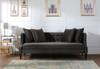 Caroline Recessed Tuxedo Sofa, Dark Charcoal Grey