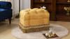 Nancy Traditional Vanity Stool, Amber Gold & Rawhide