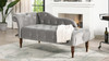 Samuel Tufted Chaise Lounge, Right Arm Facing, Opal Grey