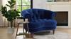 La  Rosa Tufted Accent Chair, Navy Blue