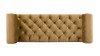 Lewis Bolstered Lounge Entryway Bench, Gold