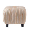 Gracie Decorative Ottoman, Beige