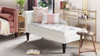 Harrison Tufted Chaise Lounge, Star White