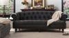 La Rosa Chesterfield Sofa, Dark Charcoal Grey