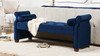 Jocelyn Roll Arm Lounge Entryway Bench, Navy Blue