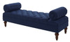Lewis Bolstered Lounge Entryway Bench, Midnight Blue