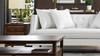Caroline Tufted Recessed Arm Tuxedo Sofa, Antique White