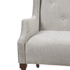 Izzy Tufted Settee, Silver Grey