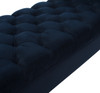 Lewis Bolstered Lounge Entryway Bench, Dark Navy Blue