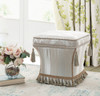 Savannah Traditional Pedestal Ottoman, Grey