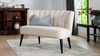 Becca Tufted Channel Back Settee, Sky Neutral