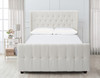 David Tufted Wingback Upholstered Bed, Queen, Antique White