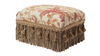 Fiona Traditional Decorative Footstool, Floral Multicolored