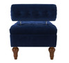 Lewis Bolstered Lounge Entryway Bench, Navy Blue