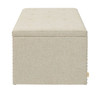 Annabelle Decorative Cocktail Ottoman Nailhead Accents, Wood Ash