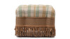 Nancy Traditional Vanity Stool, Celadon, Beige, and Taupe