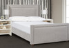 Elle Wingback Upholstered Bed, Queen, Silver Grey