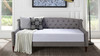 Lucy Upholstered Sofa Bed, Opal Grey