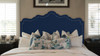 Ela Upholstered Headboard, Midnight Blue (Queen Size)