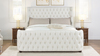 Brooklyn Tufted Bed, King, Antique White