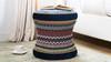 Leona Decorative Vanity Stool, Velvet, Multicolored