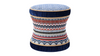 Leona Decorative Vanity Stool, Velvet, Multicolored