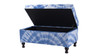 Naomi Storage Entryway Bench, Blue & White