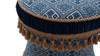 Leona Decorative Vanity Stool, Yarn Dyed, Navy & White