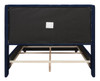 David Tufted Wingback Upholstered Bed, Queen, Navy Blue
