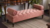 Lewis Bolstered Lounge Entryway Bench, Ash Rose