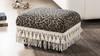 Fiona Traditional Decorative Footstool, Leopard Print
