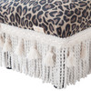 Fiona Traditional Decorative Footstool, Leopard Print