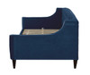 Lucy Upholstered Sofa Bed, Navy Blue