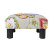 Jules Square Accent Ottoman, Printed, Red, Taupe, & Green